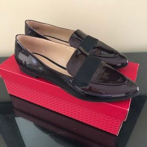 Burgundy & Black Patent Leather loafers